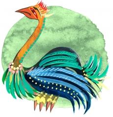 Страфиль — птица-образ, передающая небесные знания на Землю.